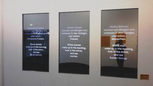 """""""Der Knackpunkt bei der Ausstellungskonzeption lag darin, dass das Ausstellungsteam weiß, bürgerlich und überwiegend deutsch-muttersprachig besetzt war."""""""